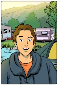 small panel - Paul on camping ground