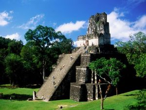 Temple of the Masks, in Tikal, Guatemala.