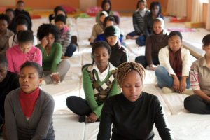 meditating students in johannesburg