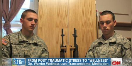 Soldiers during Transcendental Meditation