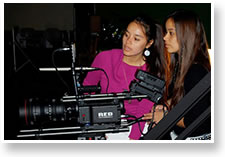 Students in the Media and Communications Department have access to high-end equipment such as the Red One camera