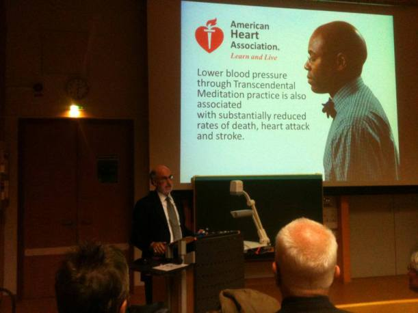 Dr Robert Schneider lecturing at the University of Lübeck, Germany