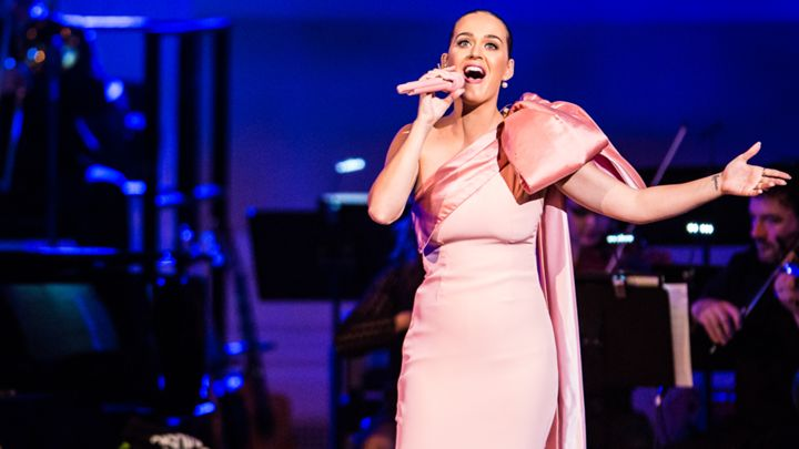 Katy Perry performs at the David Lynch's Meditation Benefit Concert in New York, NY on November 4th, 2015 Joe Papeo